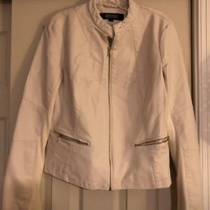 Calvin Klein leather spring or fall jacket